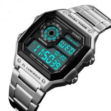 Мужские спортивные водостойкие часы Skmei Ripple Silver 1335S