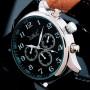 Мужские классические механические часы Jaragar Elite Black 1013