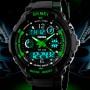 Детские часы Skmei S-Shock Green 0931