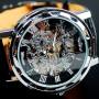 Мужские классические механические часы Winner Black 1107