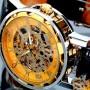 Мужские классические механические часы c автоподзаводом Winner Simple Gold 1106