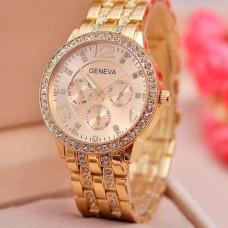 Женские классические кварцевые часы Geneva Gold