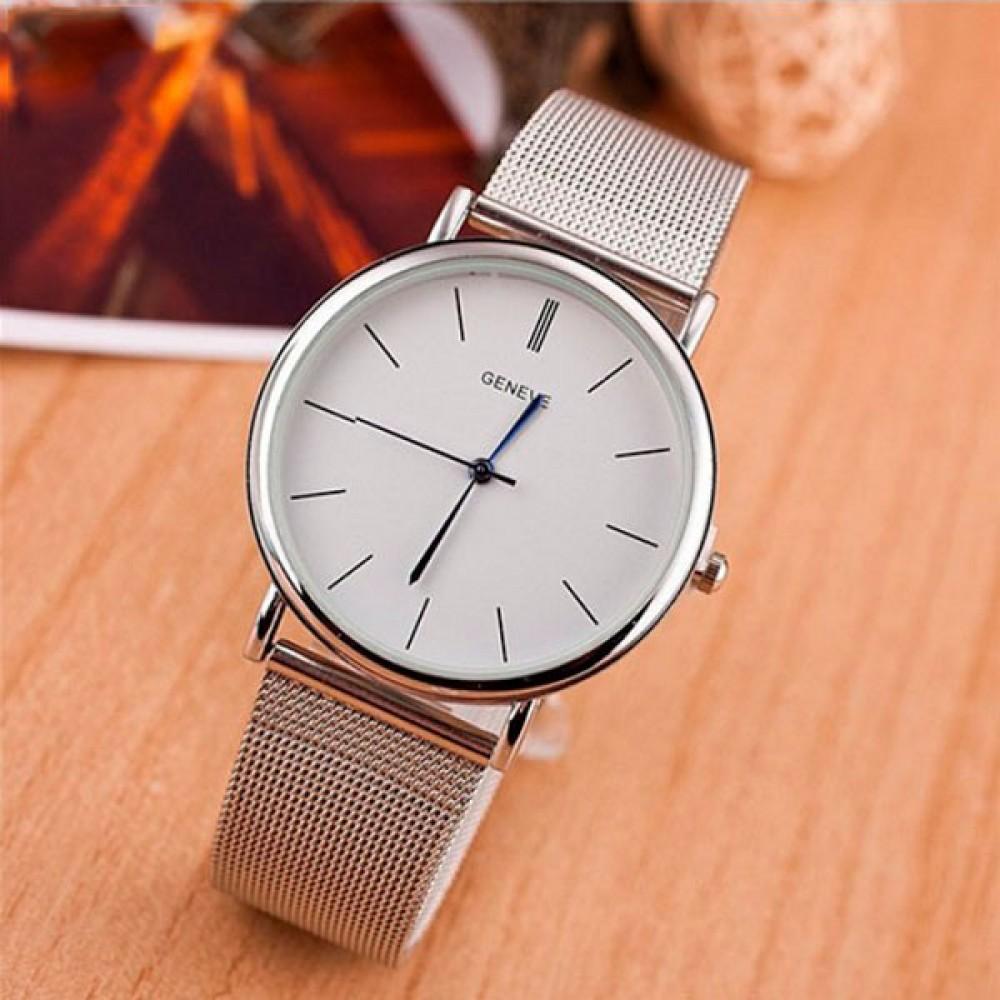 Женские часы Geneva Steel Silver