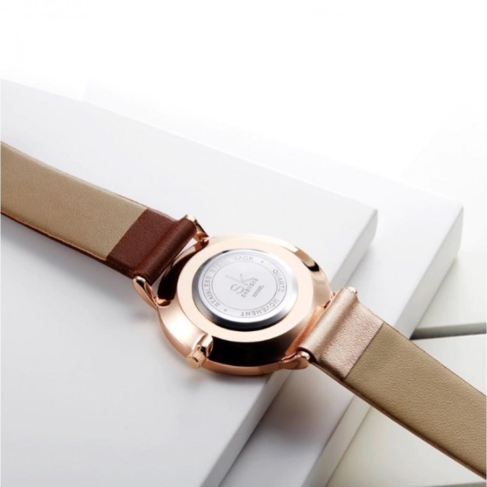 Женские часы Shengke Duos Brown
