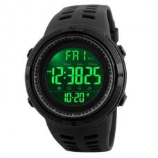 Мужские спортивные кварцевые часы Skmei Amigo Black 1267