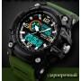 Мужские спортивные кварцевые часы Skmei Disel Green 1283