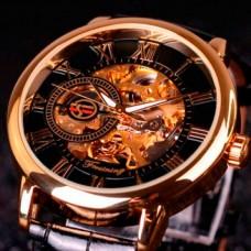 Мужские классические механические часы Forsining Rich Black 1120