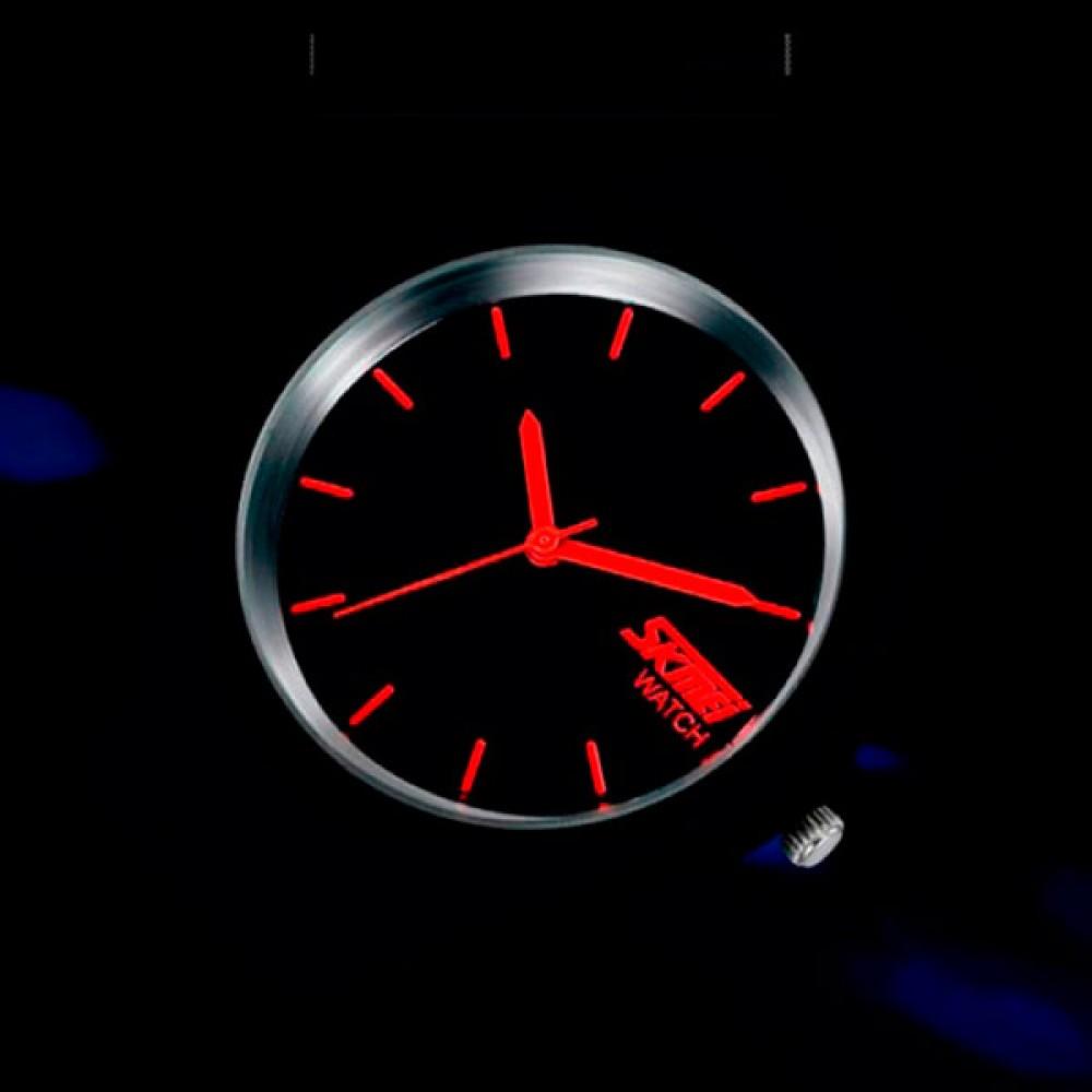 Мужские спортивные водостойкие часы Skmei Rubber Black II 9068