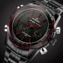 Мужские спортивные кварцевые часы Naviforce Army Black NF9024