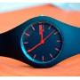 Женские спортивные водостойкие часы Skmei Rubber Black II 9068