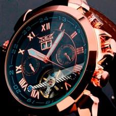 Мужские классические механические часы Jaragar Turboulion 1007 с автоподзаводом и датой