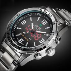 Мужские спортивные кварцевые часы Weide Standart Silver 1506