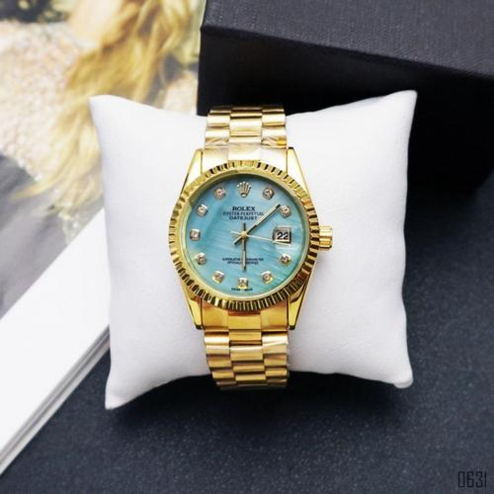 Rolex Date Just Gold-Turquoise Pearl