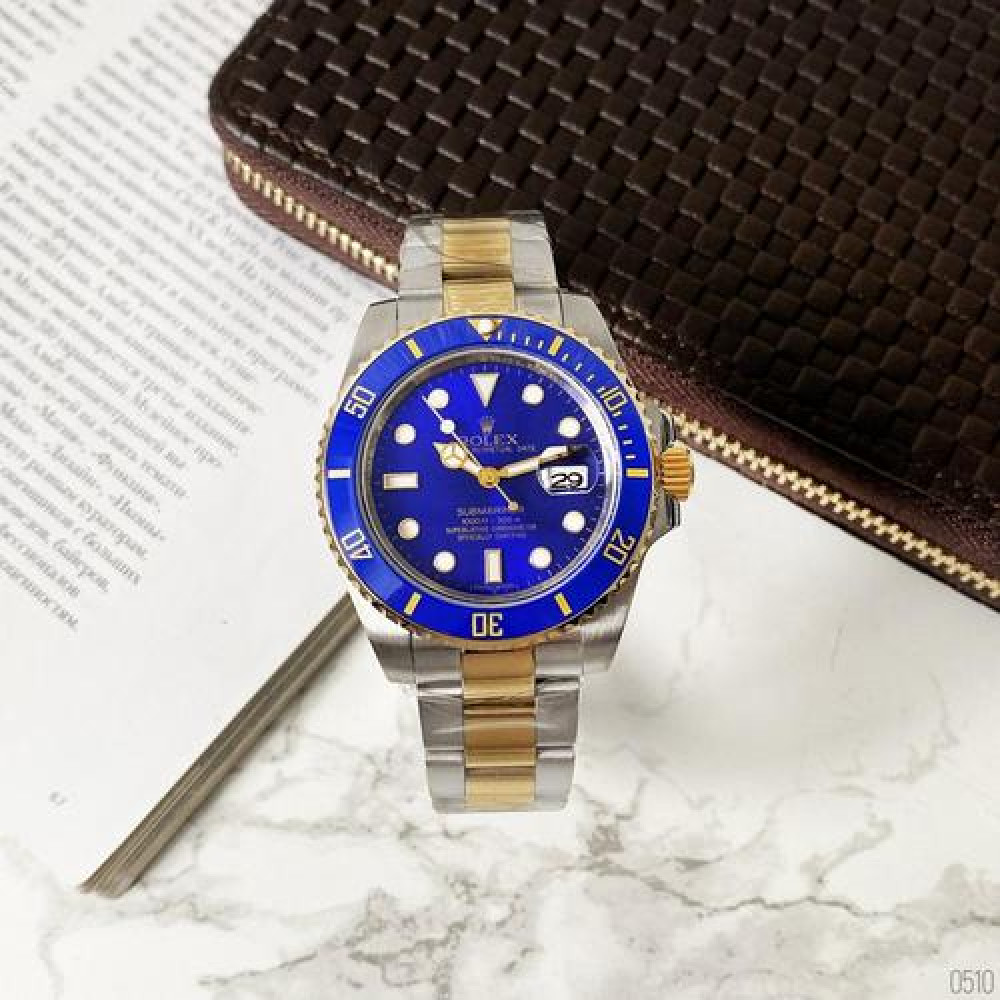 Rolex Submariner AAA Date Silver-Gold-Blue