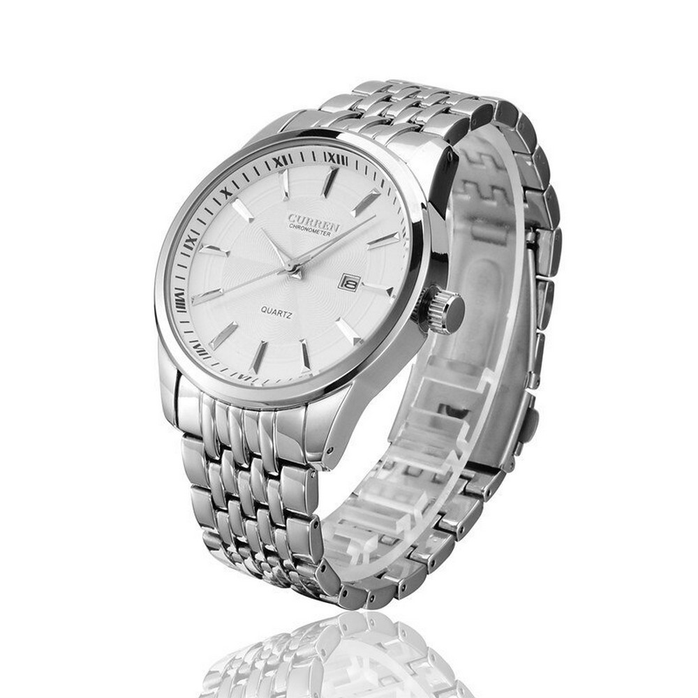 Curren 8052 All Silver