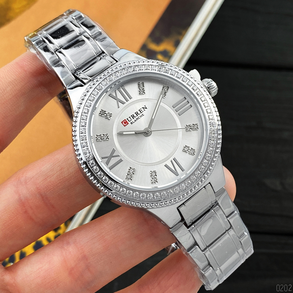 Curren 9004 All Silver