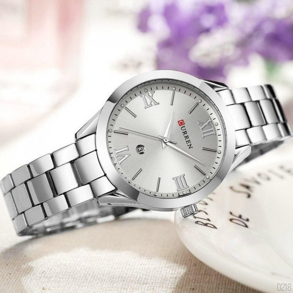 Curren 9007 All Silver