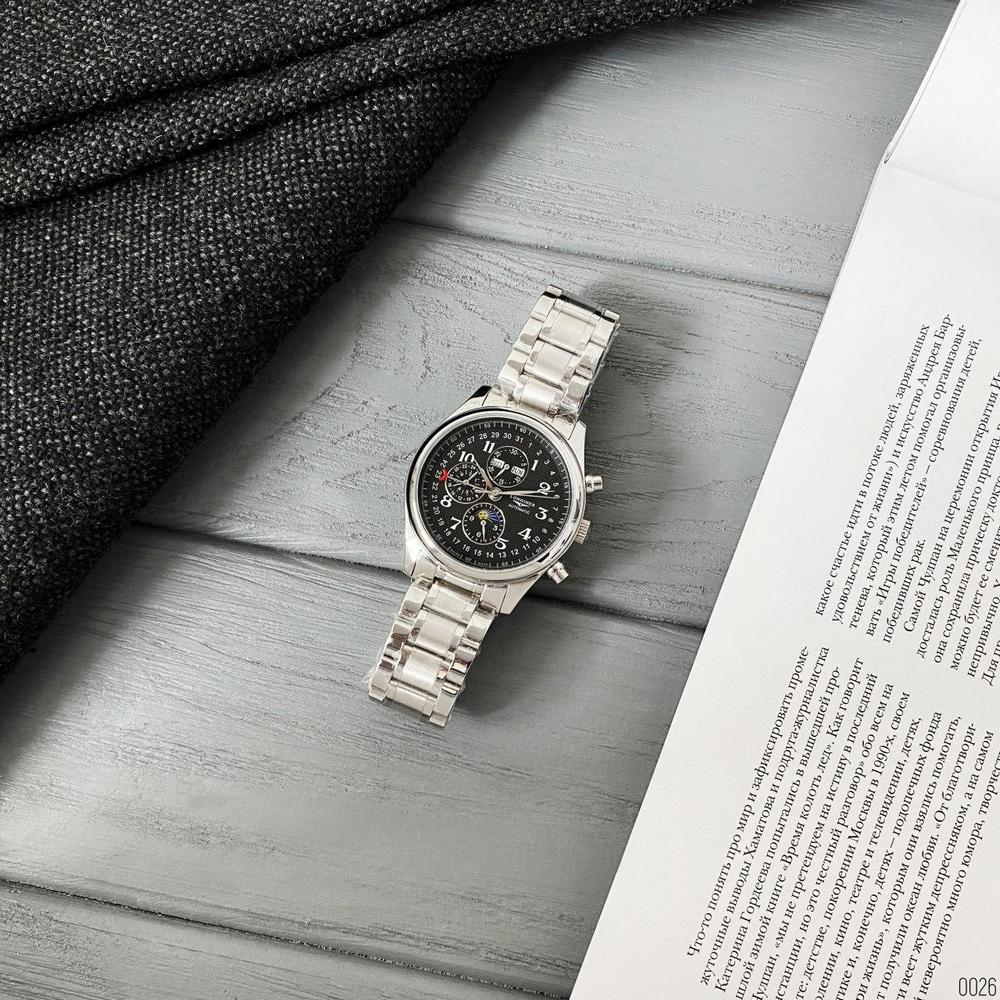 Longines Master Collection Moonphases Steel  Automatic Silver-Black