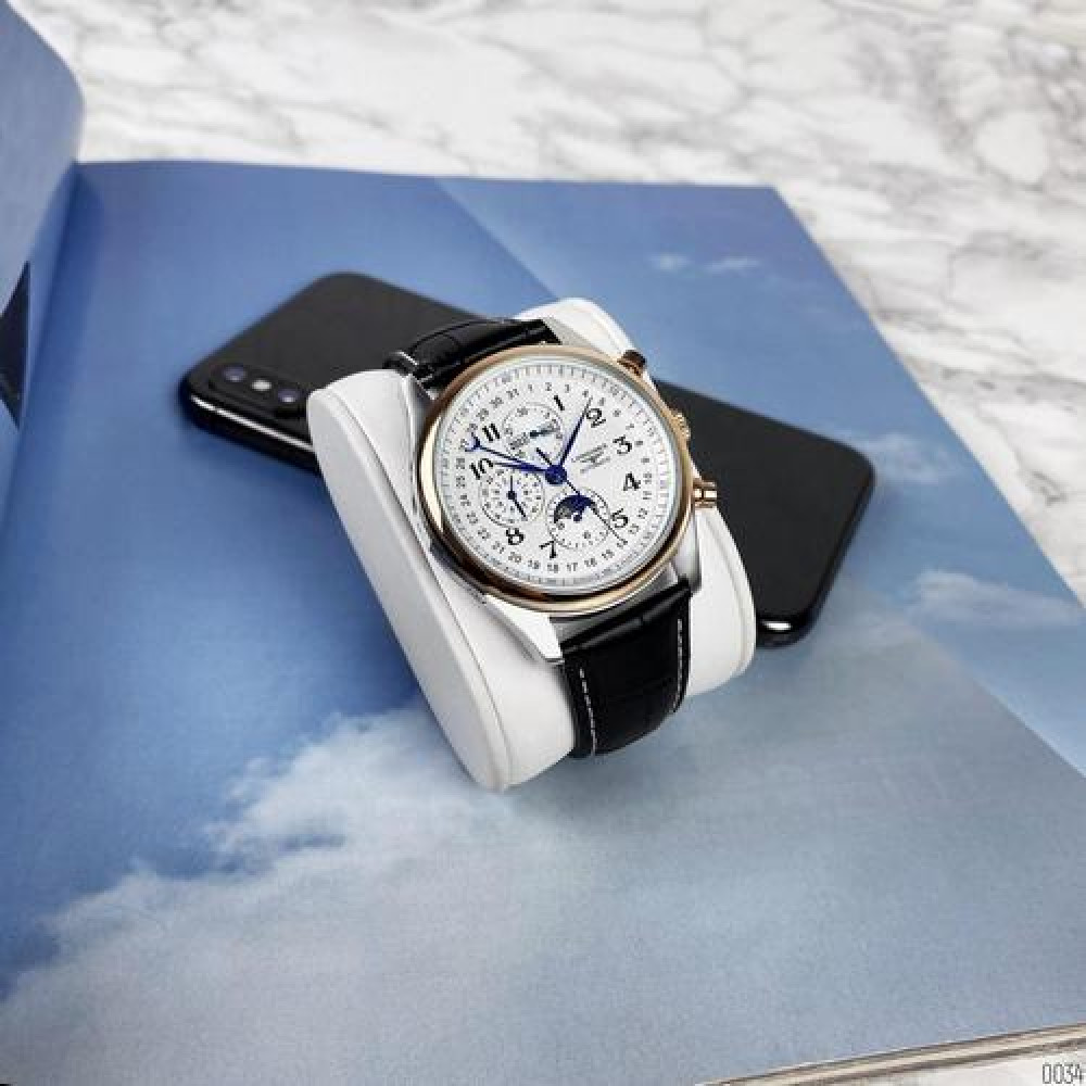 Longines Master Collection Moonphases Black-Silver-Gold-White
