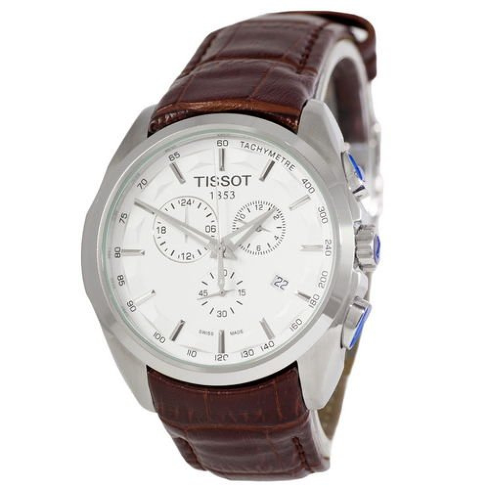 Tissot T-Classic Couturier Chronograph Brown-Silver-White