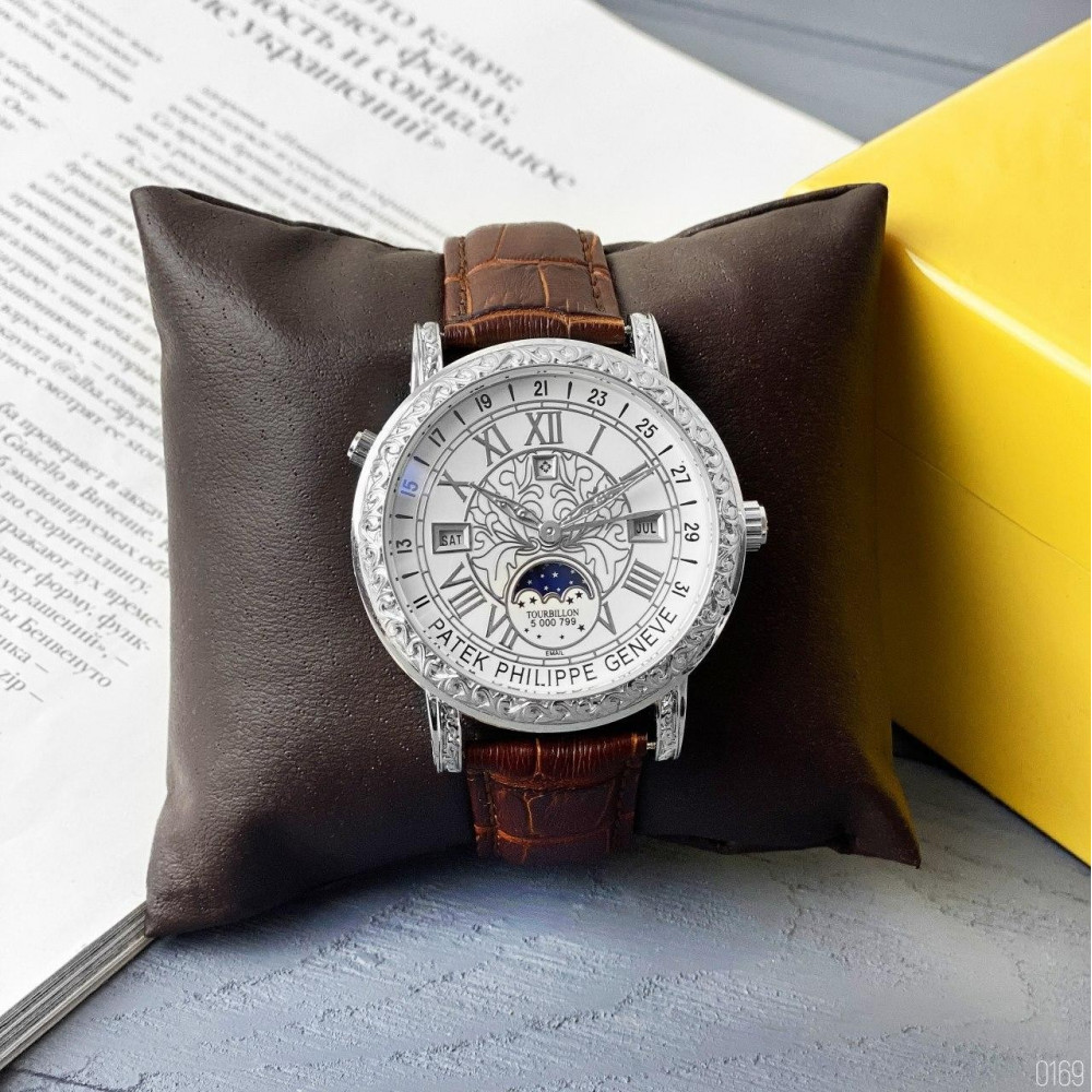 Patek Philippe Grand Complications 6002 Sky Moon Brown-Silver-White